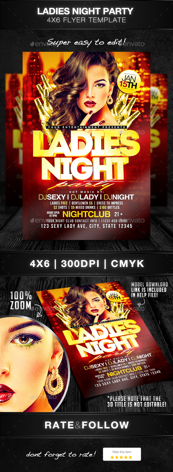 Ladies Night Party Flyer Template - Clubs & Parties Events