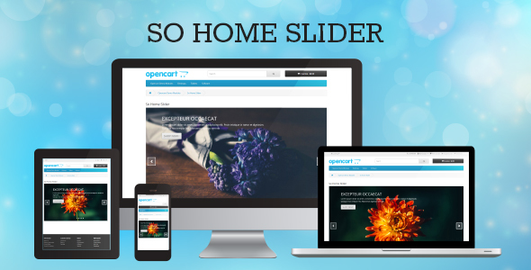 So Home Slider - Responsive OpenCart 3.0.x & OpenCart 2.x Module - CodeCanyon Item for Sale