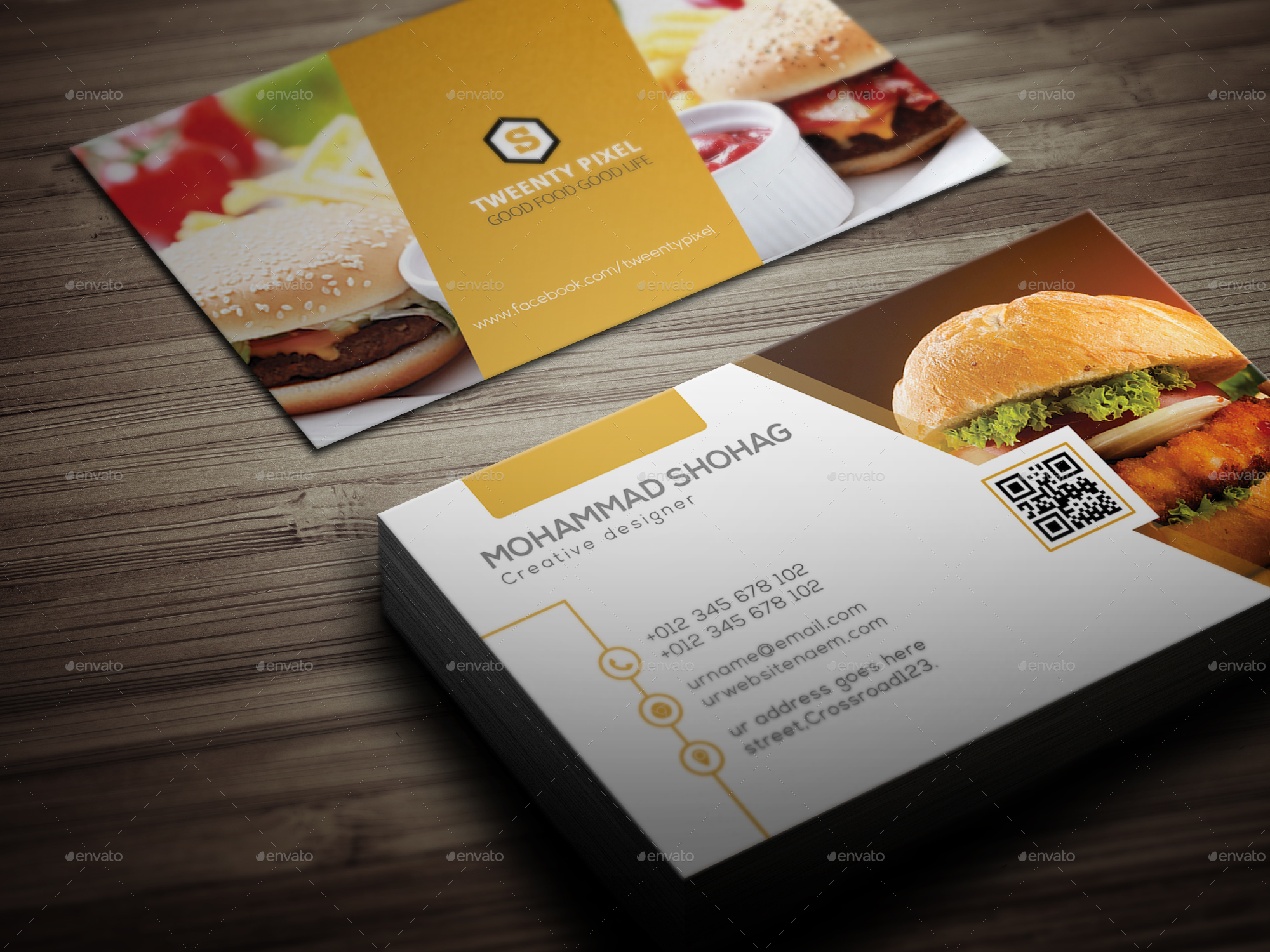 Simple Restaurant Business Card by shohag4y