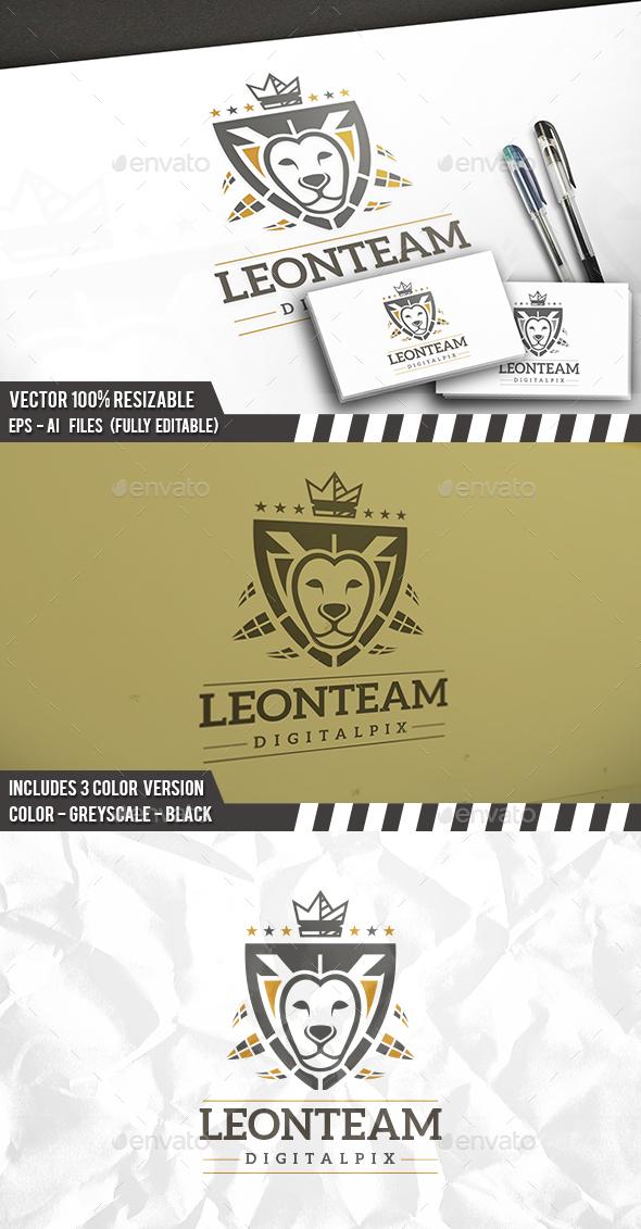 Lion Shield Crest Logo - Animals Logo Templates