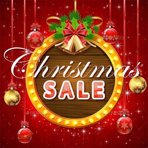 Christmas Sale on Round Banner - Christmas Seasons/Holidays