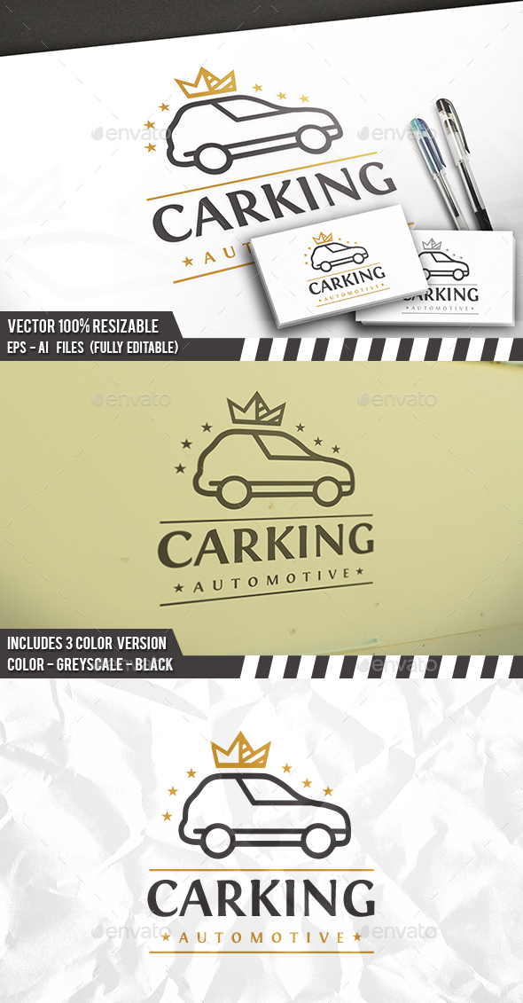 Car King Logo - Objects Logo Templates
