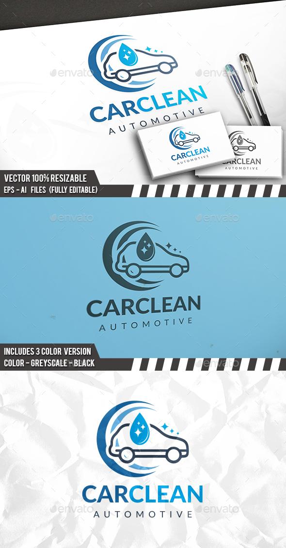 Clean Car Logo - Nature Logo Templates