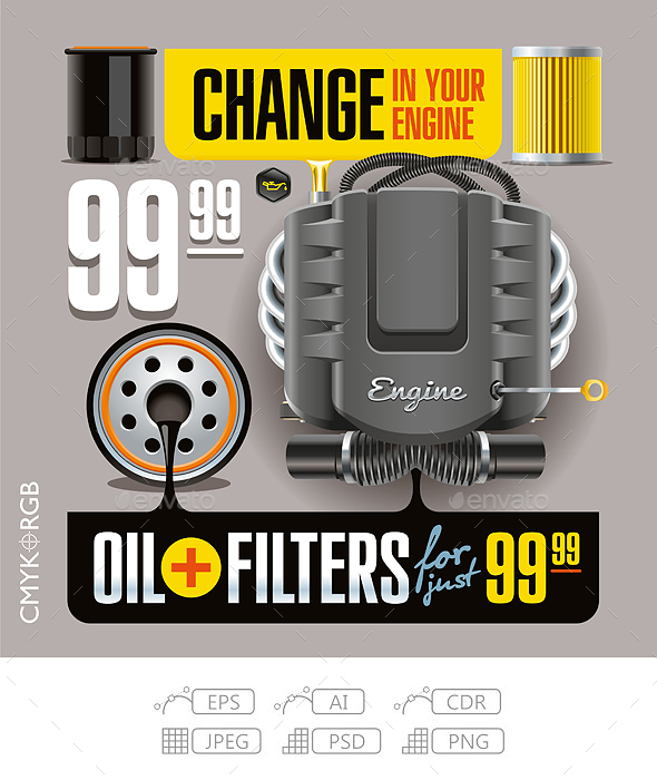 Oil and Filters Change - Services Commercial / Shopping
