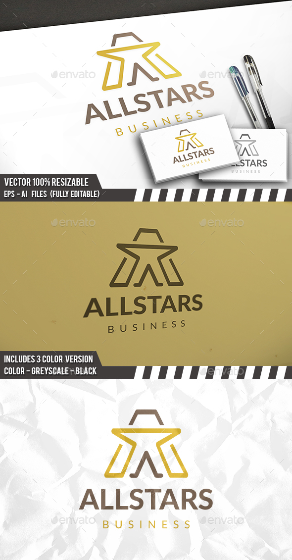 A Star Logo - Letters Logo Templates