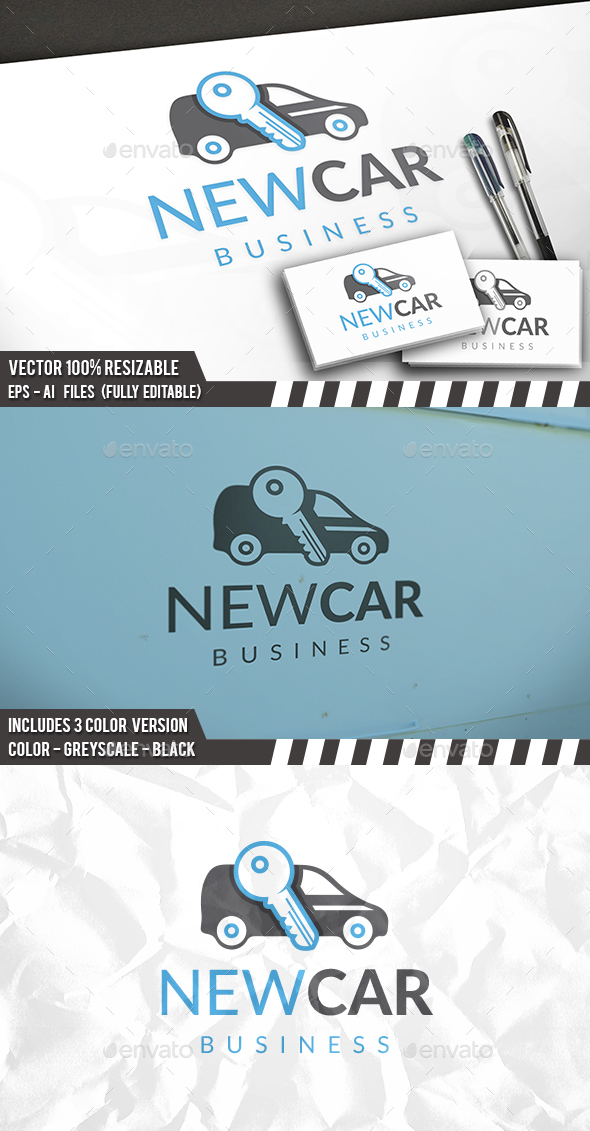 New Car Logo - Objects Logo Templates