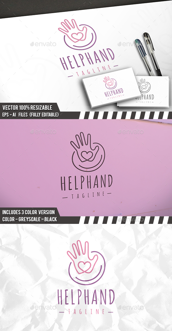 Helping Hand Logo - Humans Logo Templates