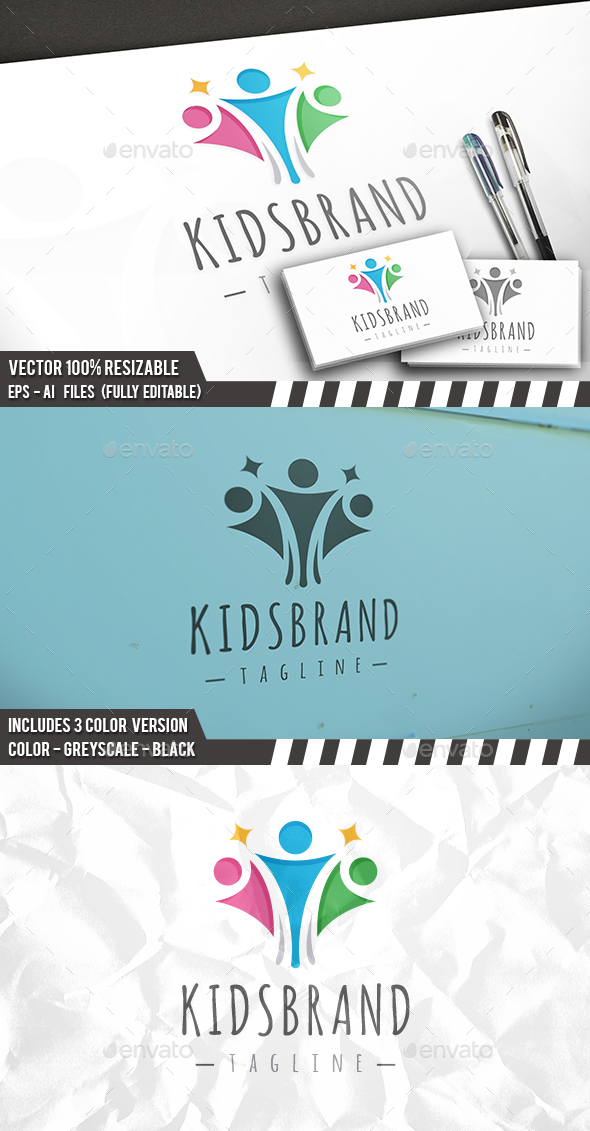Kids Brand Logo - Humans Logo Templates