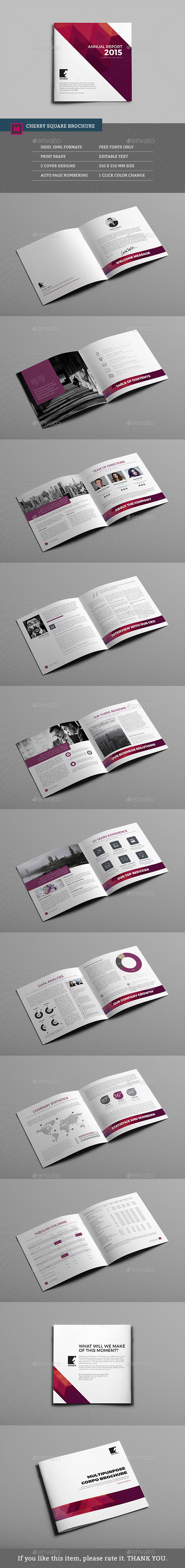 Cherry Square Multipurpose Brochure - Corporate Brochures