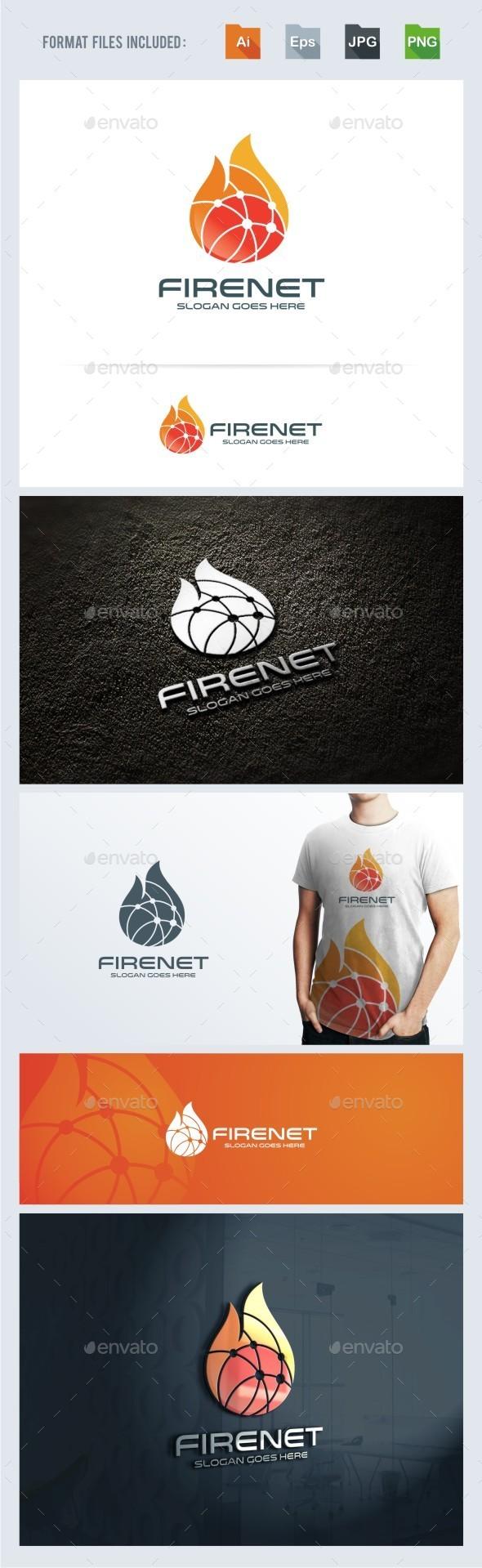 Fire Net Logo Template - Symbols Logo Templates