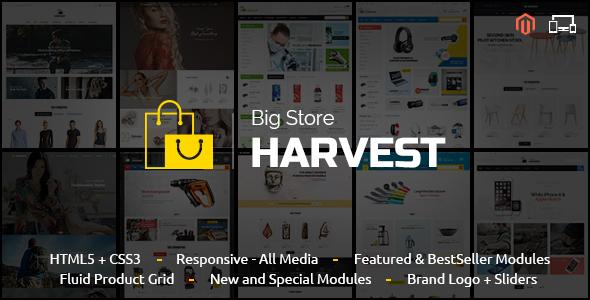 Harvest - Magento Responsive Theme - Shopping Magento