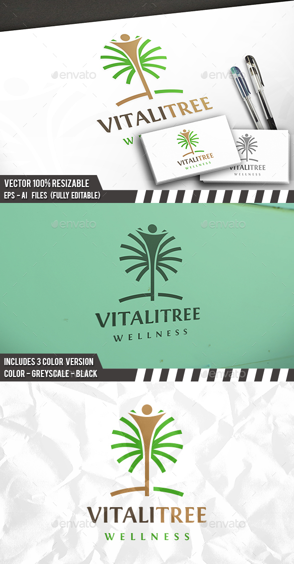 Human Tree Logo - Nature Logo Templates