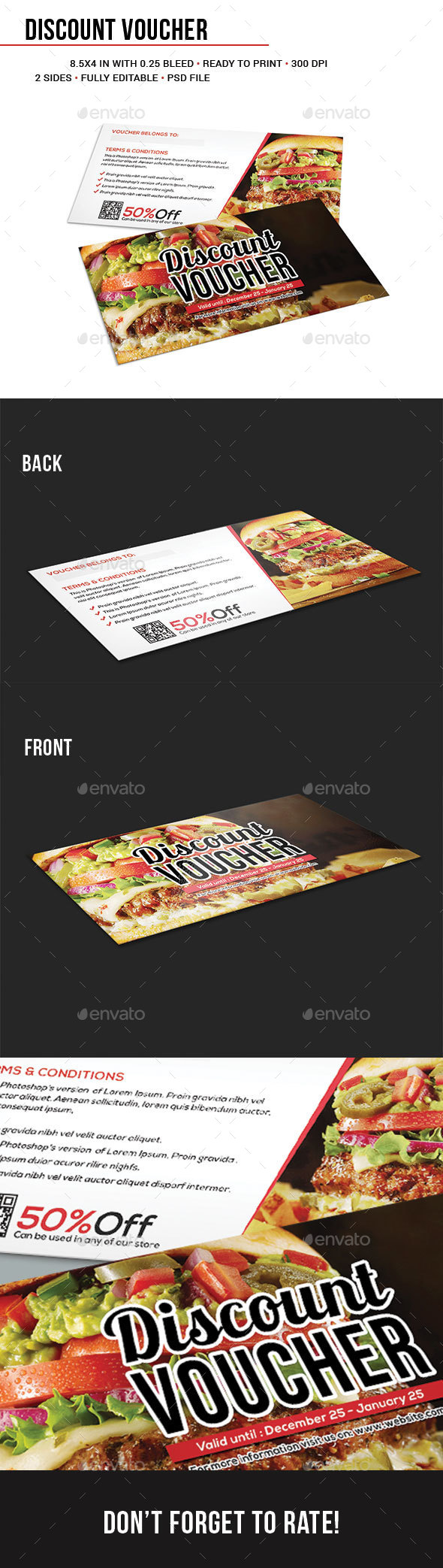 Discount Voucher Template - Cards & Invites Print Templates