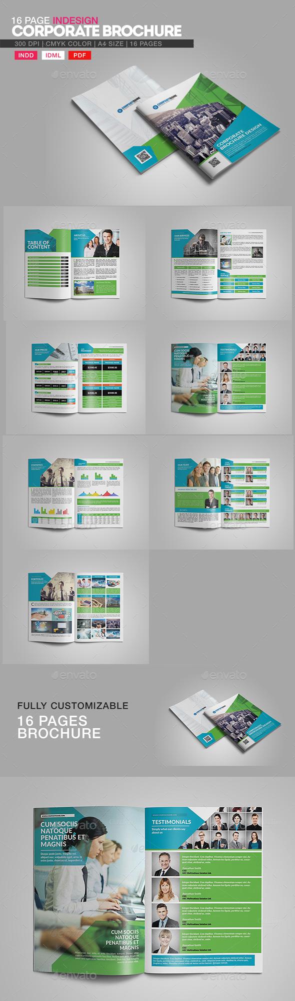 16 Page InDesign Corporate Brochure - Corporate Brochures