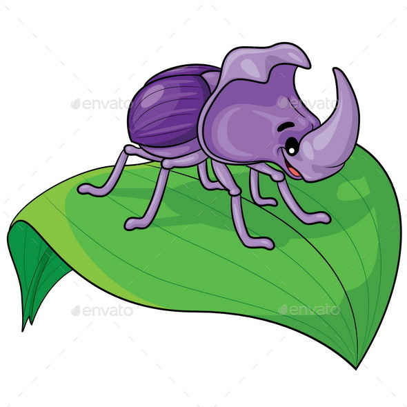 Rhinoceros Beetle Cartoon - Animals Characters