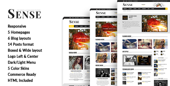 Sense - Blog Magazine & News Theme - News / Editorial Blog / Magazine