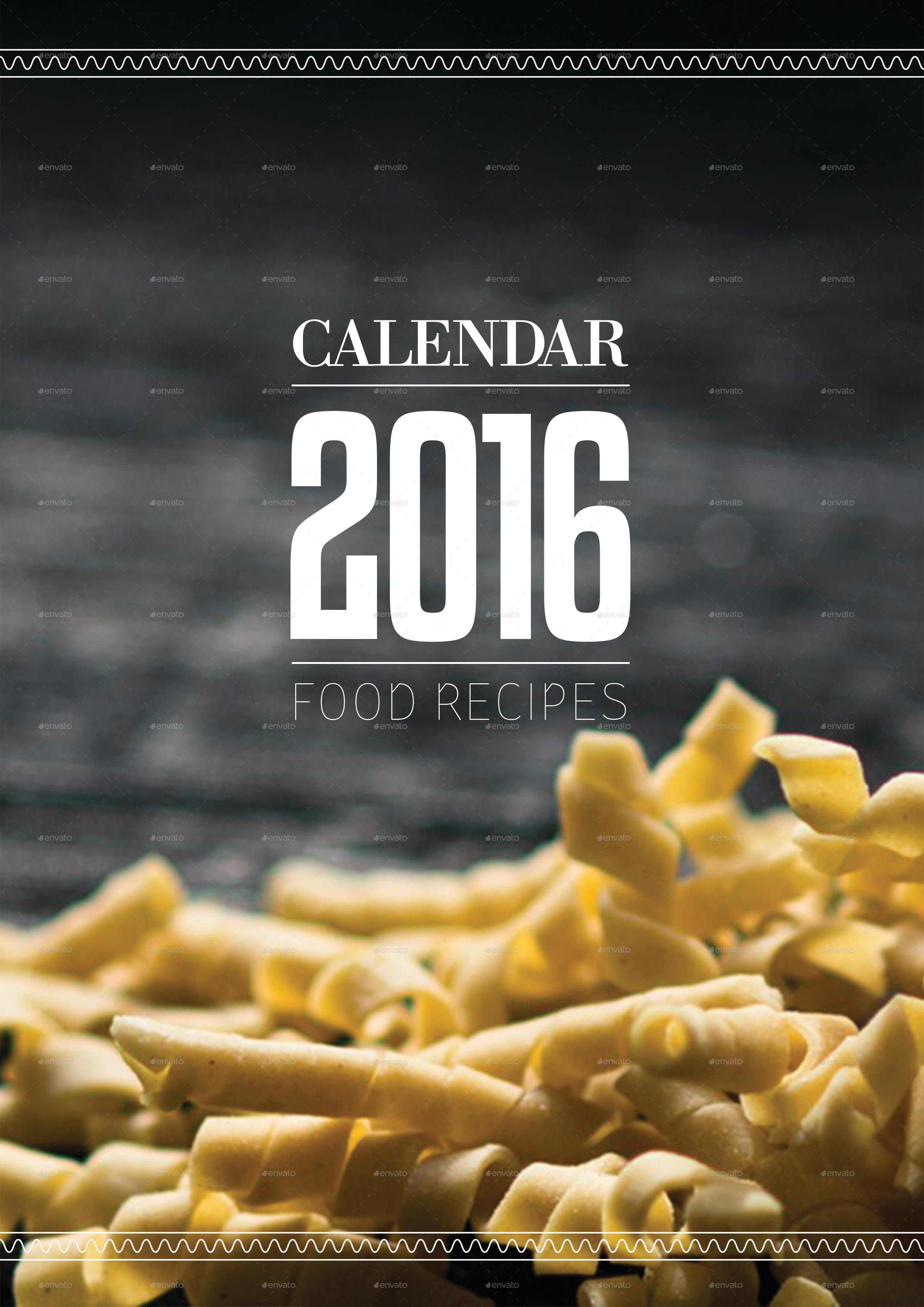 Food Recipe Calendar 2017 By Panospanos19 Graphicriver