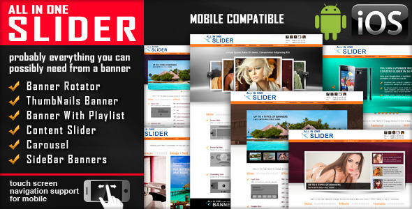 All In One Slider Responsive Jquery Slider Plugin - CodeCanyon Item for Sale