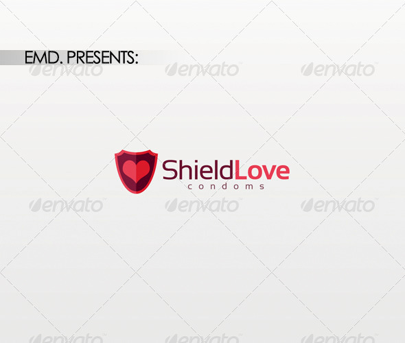 Shield Love Logo - Symbols Logo Templates