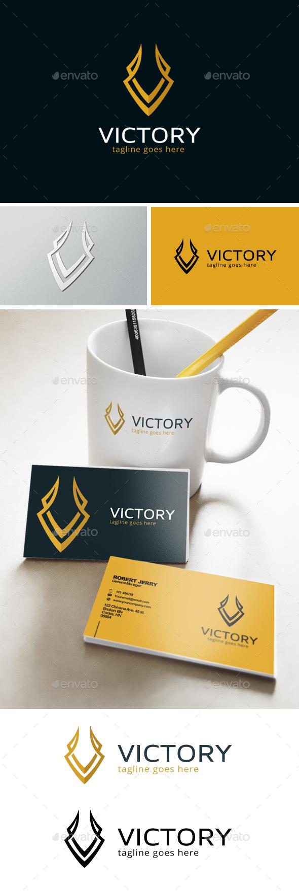 Victory Letter V Logo