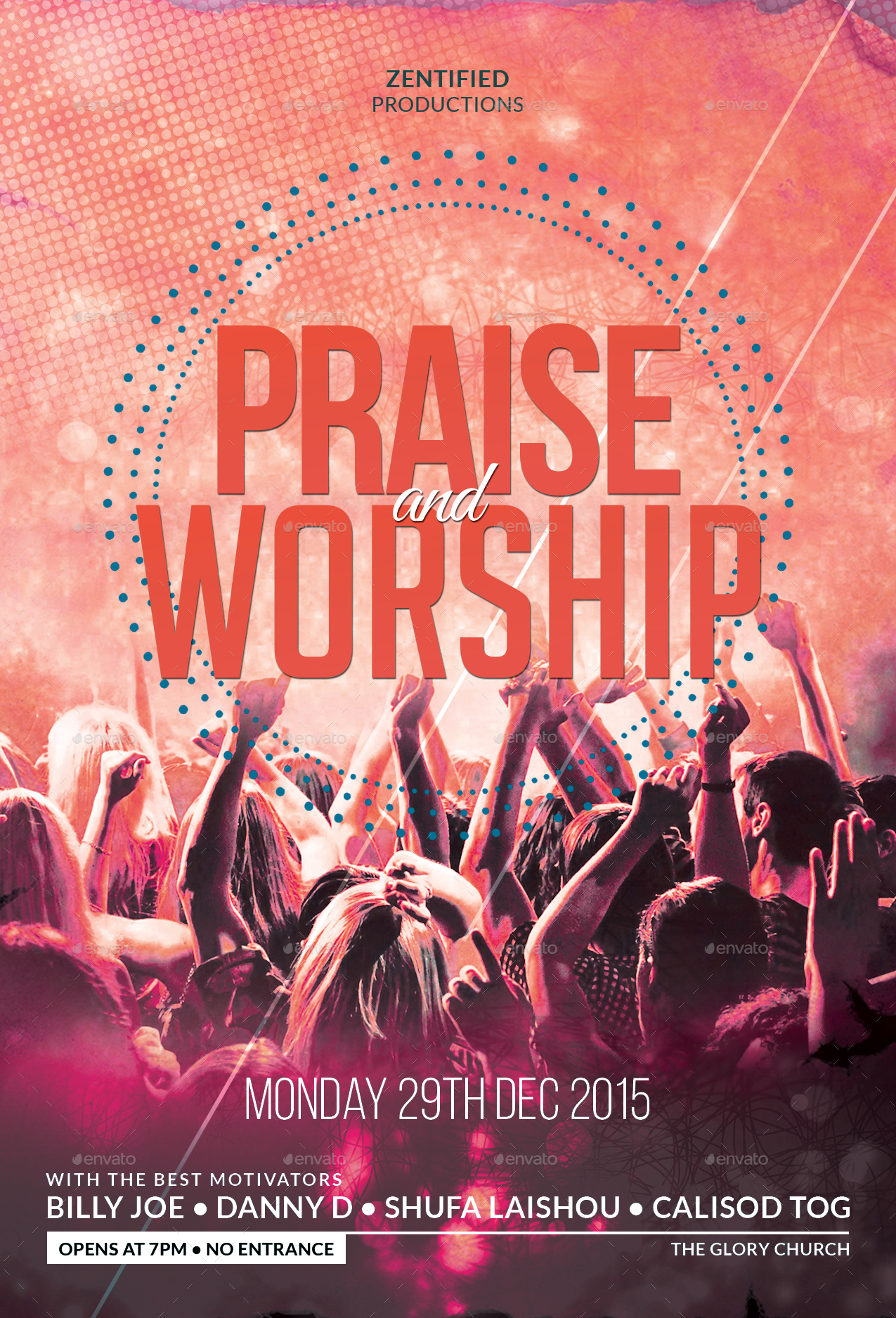 praise and worship flyer by zentify