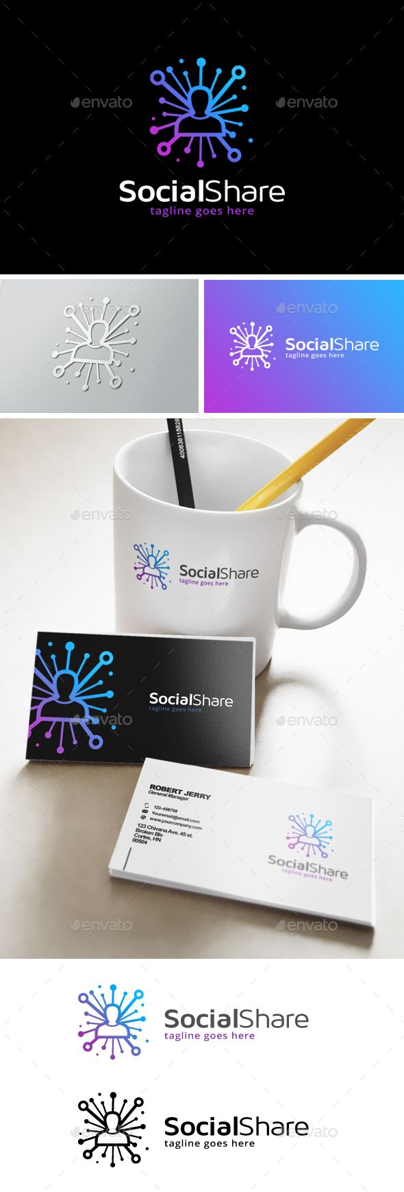 Social Share Logo - Humans Logo Templates