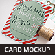 Invitation Card Mockup v.2 - GraphicRiver Item for Sale