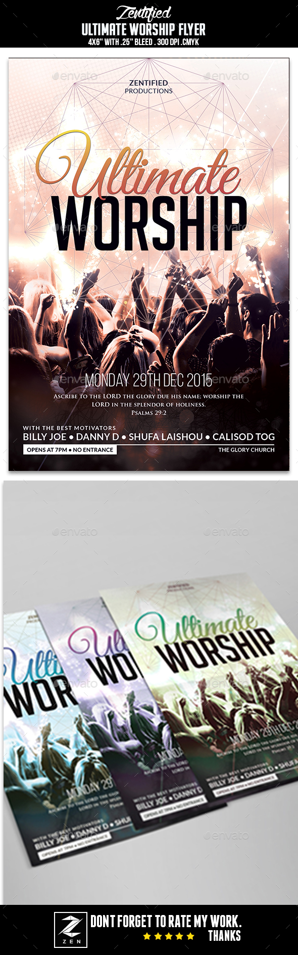 Ultimate Worship Flyer - Events Flyers