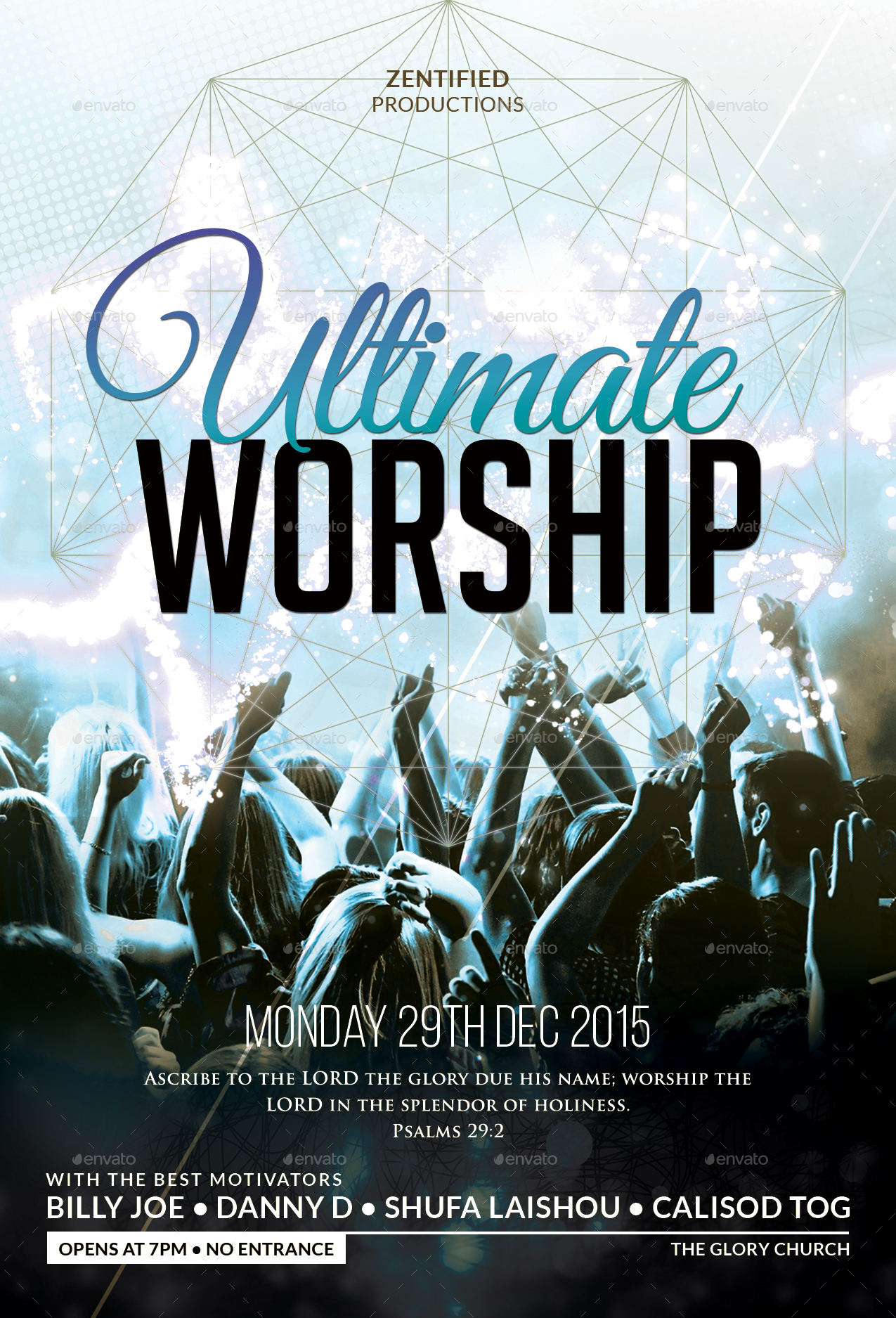 ultimate worship flyer by zentify