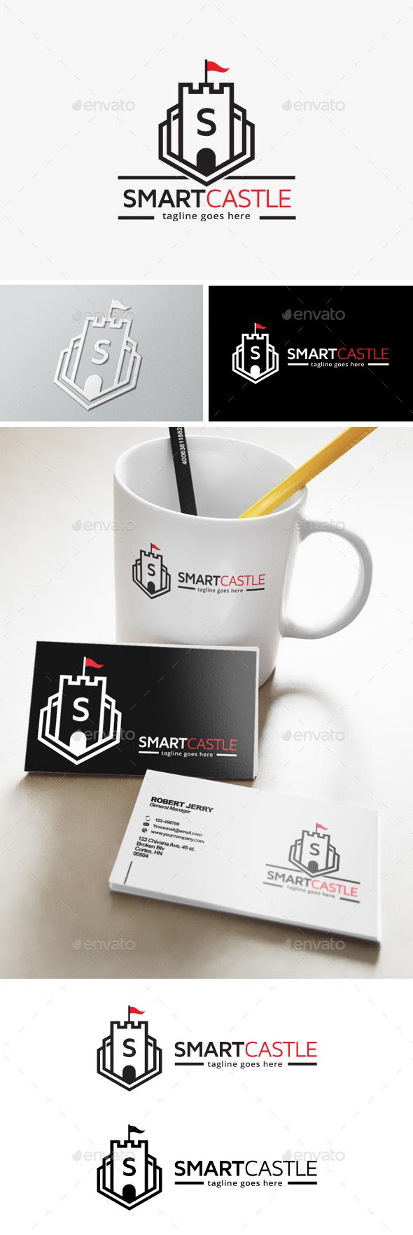 Smart Castle Letter Logo - Buildings Logo Templates