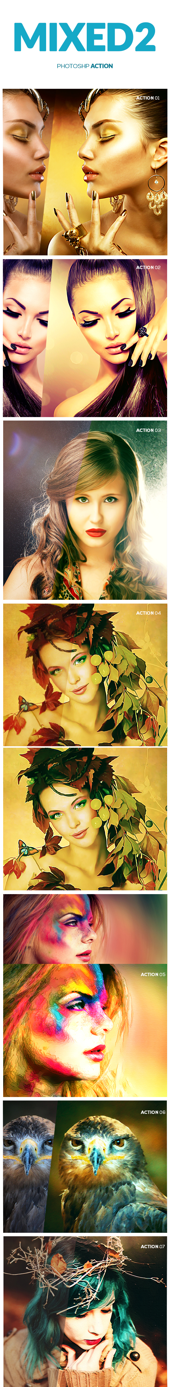 Mixed Photoshop Action 2 - Photo Effects Actions