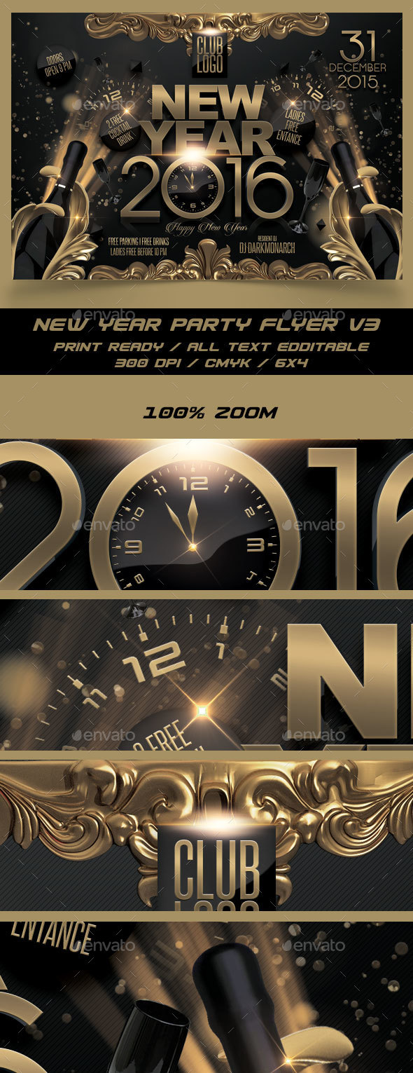 New Year Party Flyer V3 - Events Flyers
