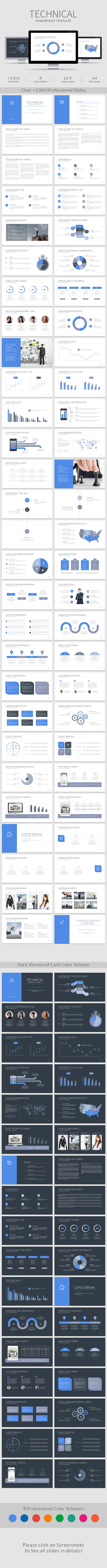 Technical PowerPoint Template - Business PowerPoint Templates