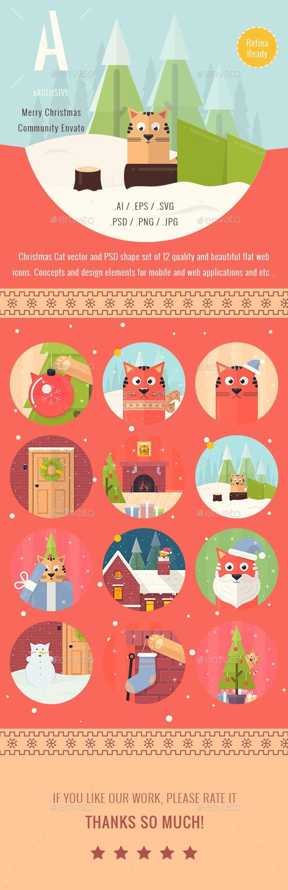Christmas Illustrated Flat Icons - Icons