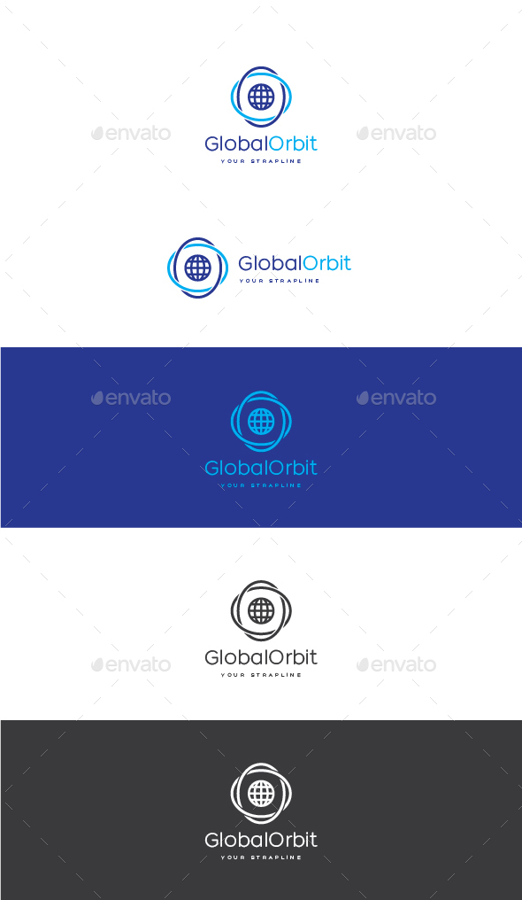 Globe Orbit Logo - Symbols Logo Templates
