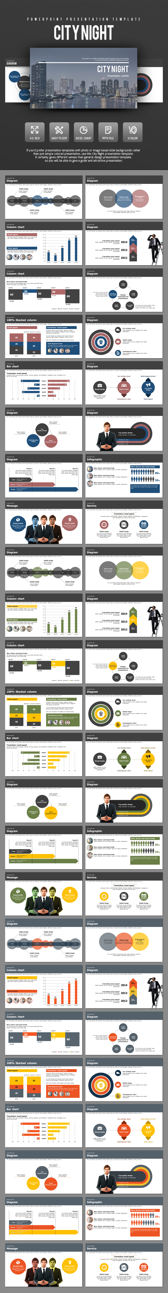 City Night - Business PowerPoint Templates