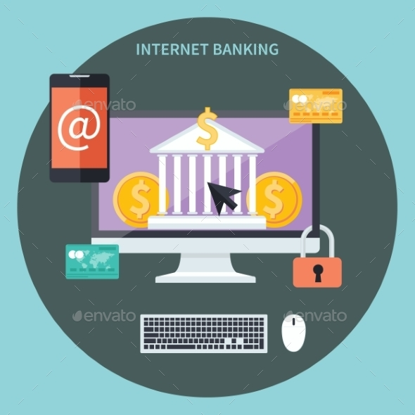 Internet Banking And Security Deposit - Concepts Business