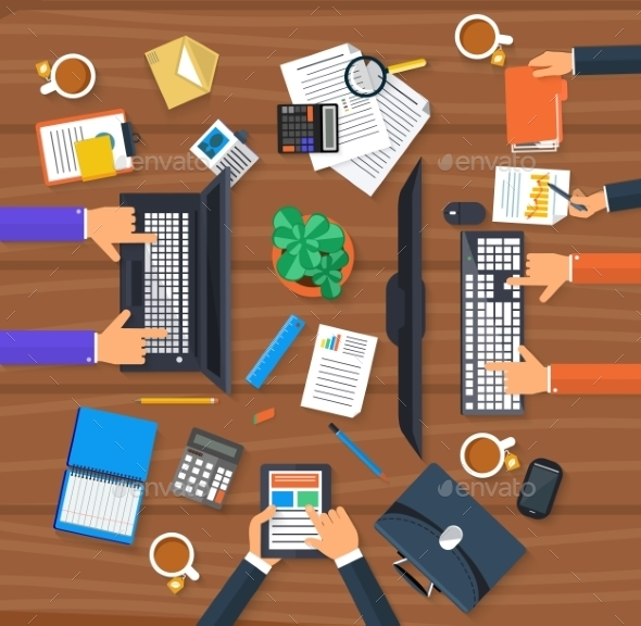 Working Process Of Business Team - Concepts Business