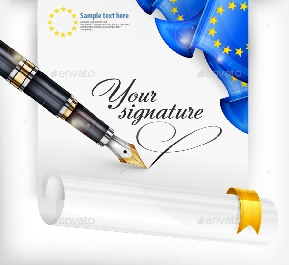 Euro Blank and Pen - Miscellaneous Vectors