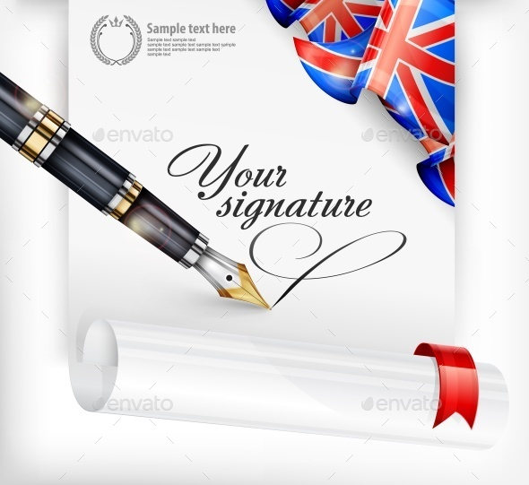 English Blank and Pen - Miscellaneous Vectors
