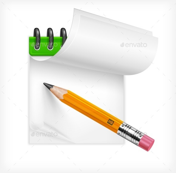 Pencil and Notebook - Miscellaneous Vectors
