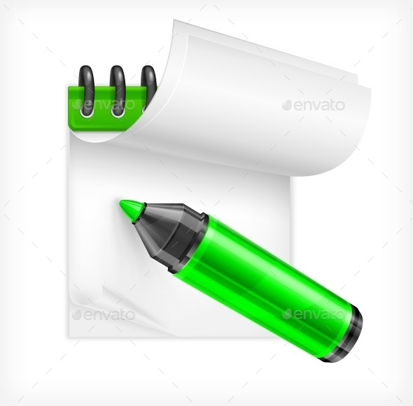Highlighter and Notebook - Miscellaneous Vectors