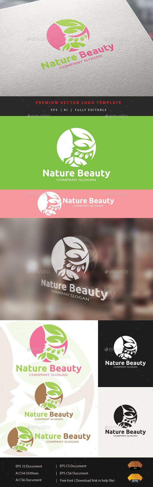 Nature Beauty - Humans Logo Templates