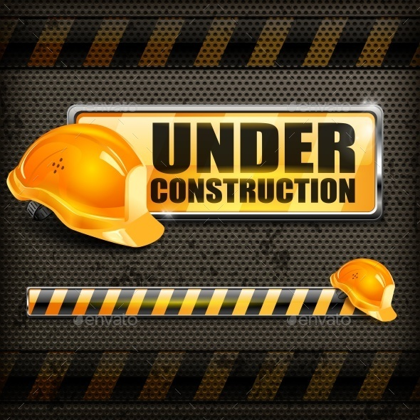 Under Construction Sign  - Concepts Business