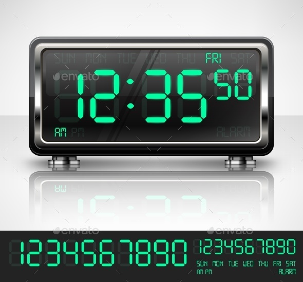 Digital Watch on White - Concepts Business