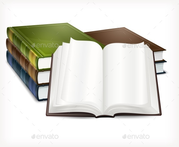New Books Open on White - Concepts Business