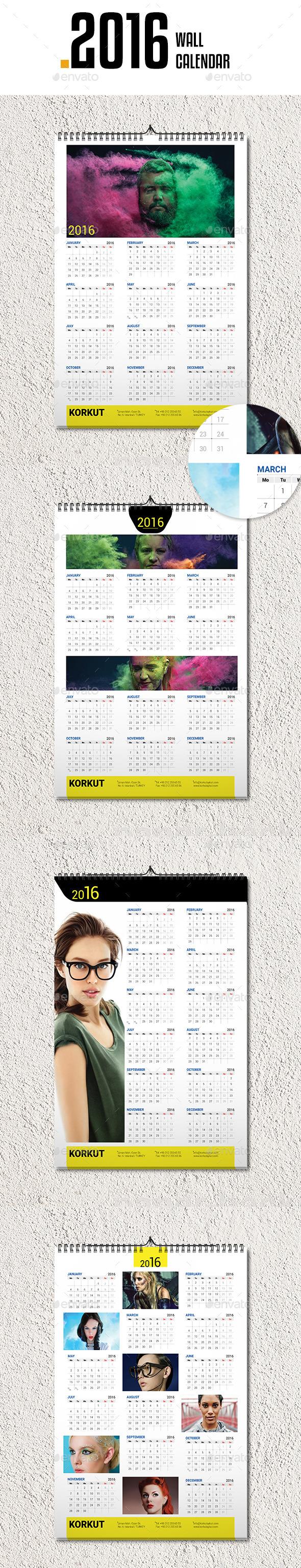 Wall Calendar 2016 v4 - Calendars Stationery