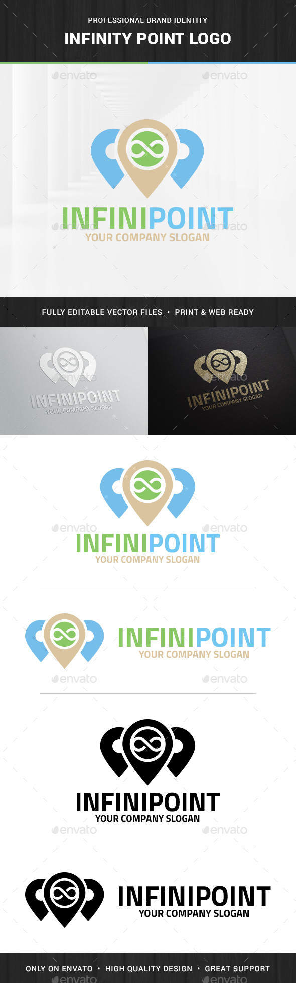 Infinity Point Logo Template - Symbols Logo Templates