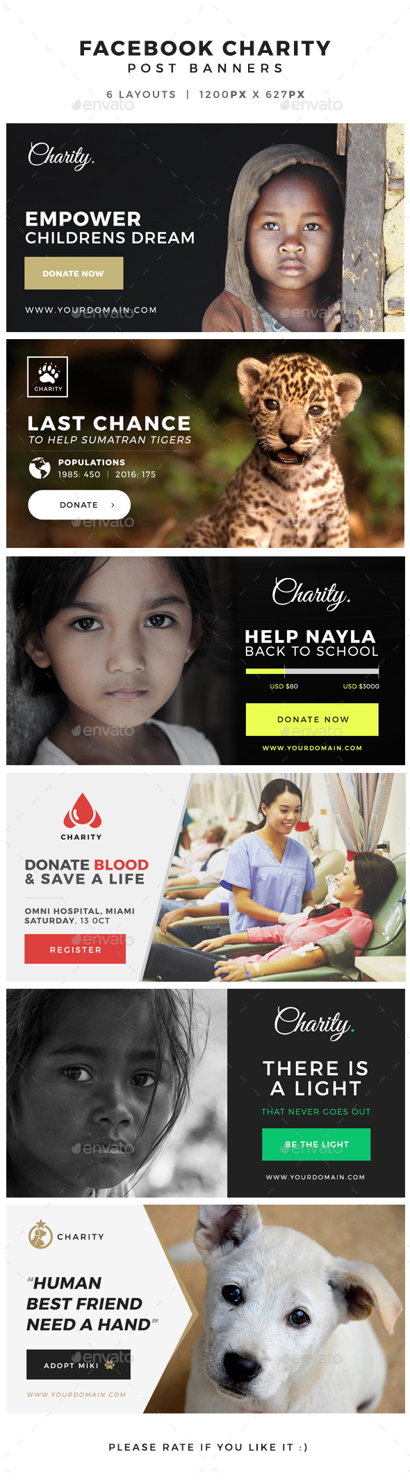 Facebook Charity Post Banners - Facebook Timeline Covers Social Media
