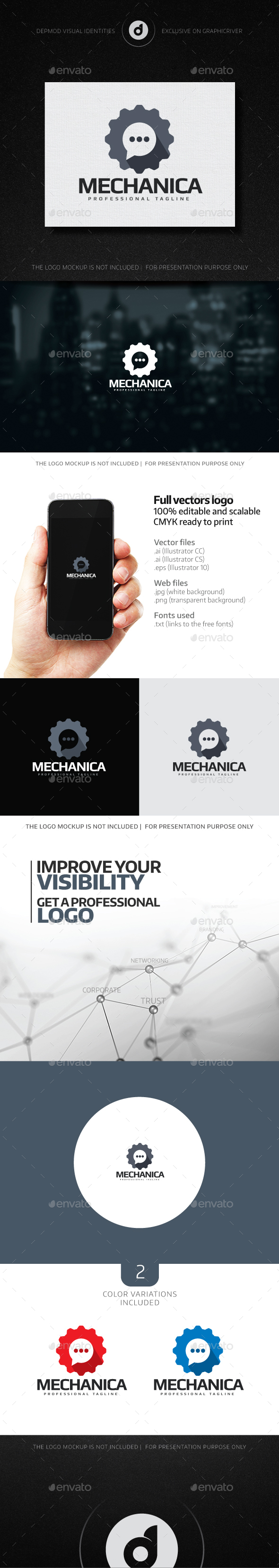 Mechanica Logo - Symbols Logo Templates